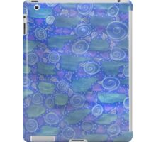 Purple Green And Blue Watercolor Play  iPad Case/Skin