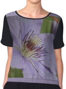 Lavender clematis Chiffon Top