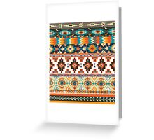 Navajo pattern with geometric elements  Greeting Card