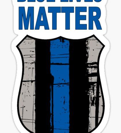 Blue Lives Matter Badge Sticker