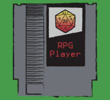 Firey Red d20 RPG Player NES cartridge Kids Tee