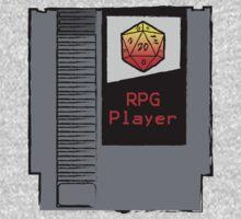 Firey Red d20 RPG Player NES cartridge One Piece - Long Sleeve