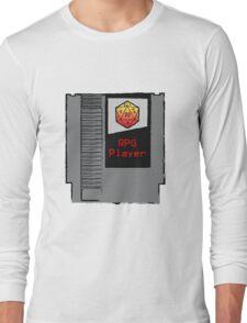 Firey Red d20 RPG Player NES cartridge Long Sleeve T-Shirt