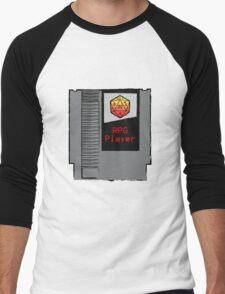 Firey Red d20 RPG Player NES cartridge Men's Baseball ¾ T-Shirt