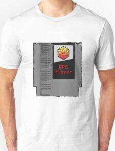Firey Red d20 RPG Player NES cartridge Unisex T-Shirt