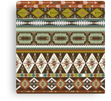 Aztec pattern with geometric elements Canvas Print