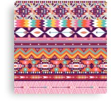 Colorful  native american  pattern with geometric elements Canvas Print