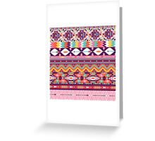 Colorful  native american  pattern with geometric elements Greeting Card