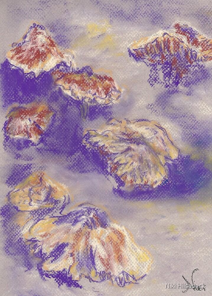 Plein Air Shrooms (pastel) by Niki Hilsabeck