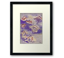 Plein Air Shrooms (pastel) Framed Print