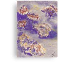 Plein Air Shrooms (pastel) Canvas Print