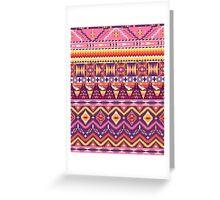 Aztec geometric seamless pattern Greeting Card