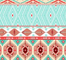 Aztec geometric seamless pattern by tomuato