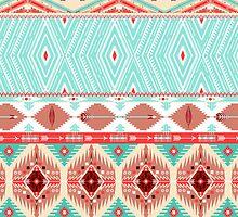 Aztec geometric seamless pattern by Olena Syerozhym