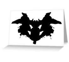 Rorschach Psychology Test Item for Psychologists! Greeting Card