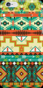 Aztec geometric seamless pattern by tomuato