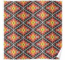 Aztec geometric seamless  colorful pattern Poster