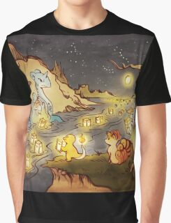 Pokemon Water and Fire Festival Graphic T-Shirt