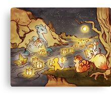 Pokemon Water and Fire Festival Canvas Print