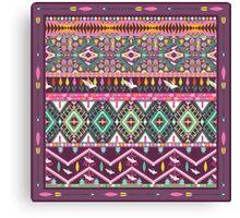 Сolorful aztec geometric pattern Canvas Print
