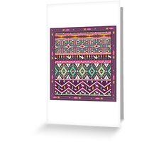 Сolorful aztec geometric pattern Greeting Card