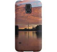 Reflecting on Fiery Skies - Toronto Skyline at Sunset Samsung Galaxy Case/Skin
