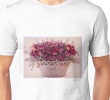 Pink Dried Roses Floral Arrangement Unisex T-Shirt