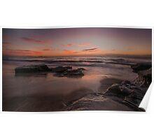Sunrise at Jenny Dixon Beach. 10-5-14. Poster