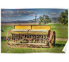 Farm machinary, seeder Poster