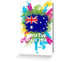 World Cup Brazil 2014 - Australia Greeting Card
