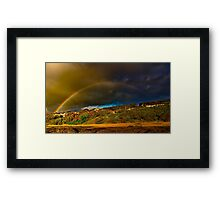 """Rainbow Over North Lorne"" Framed Print"