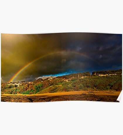 """Rainbow Over North Lorne"" Poster"