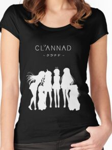 CLANNAD - Main Girls (White Edition) Women's Fitted Scoop T-Shirt