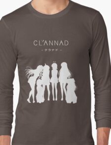 CLANNAD - Main Girls (White Edition) Long Sleeve T-Shirt