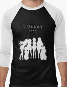 CLANNAD - Main Girls (White Edition) Men's Baseball ¾ T-Shirt