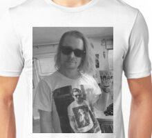 Macaulay Caulkin wearing a T-shirt of  Ryan Gosling wearing a T-shirt of Macaulay Caulkin  Unisex T-Shirt