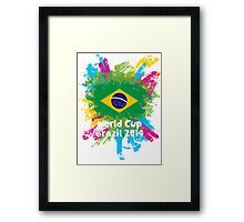 World Cup Brazil 2014 - Brazil Framed Print