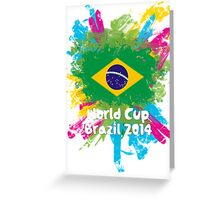 World Cup Brazil 2014 - Brazil Greeting Card