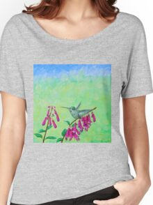 Hummingbird & Cape Fuchsia Women's Relaxed Fit T-Shirt