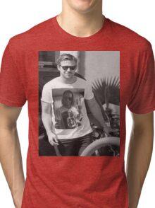 Ryan Gosling wearing aT-shirt of Macaulay Caulkin wearing a T-shirt of Ryan Gosling  Tri-blend T-Shirt