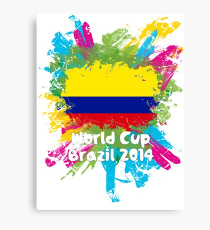 World Cup Brazil 2014 - Colombia Canvas Print