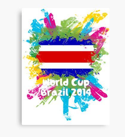 World Cup Brazil 2014 - Costa Rica Canvas Print