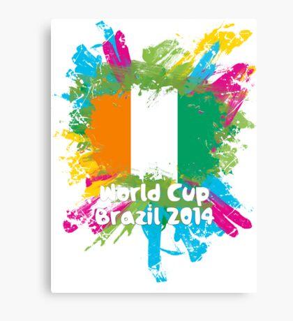 World Cup Brazil 2014 - Côte d'Ivoire Canvas Print