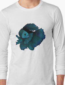 Aquamarine betta Long Sleeve T-Shirt