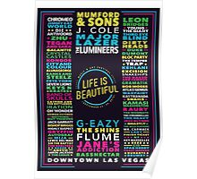 Life is Beautiful MUSIC + ART FESTIVAL LINE UP Poster