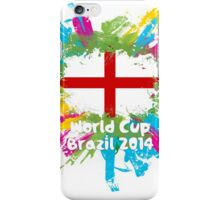 World Cup Brazil 2014 - England iPhone Case/Skin