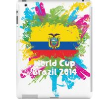 World Cup Brazil 2014 - Ecuador iPad Case/Skin