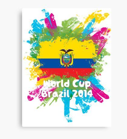 World Cup Brazil 2014 - Ecuador Canvas Print