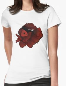 Red betta Womens Fitted T-Shirt