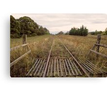 Old Railway Track Canvas Print